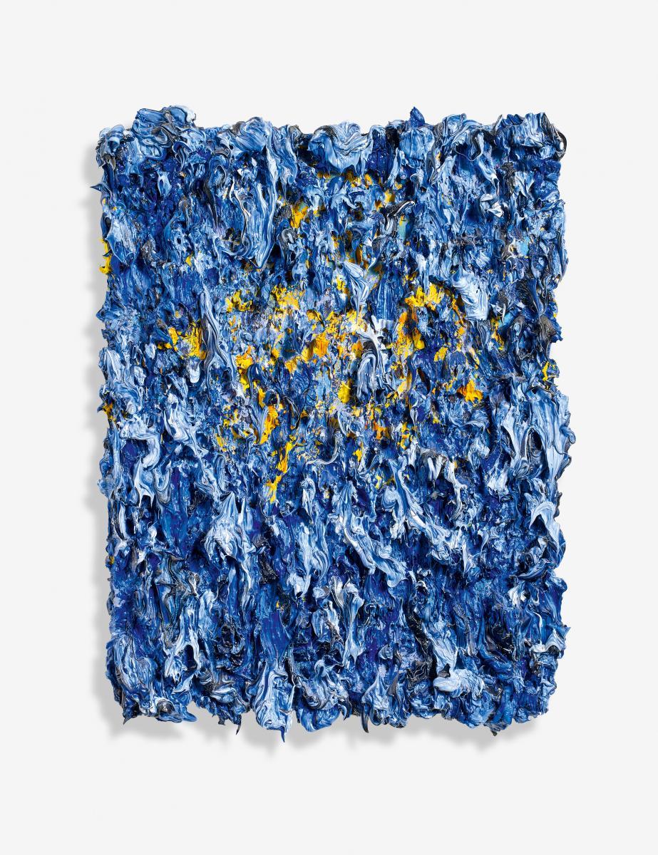 europ ischer vulkan flammenbild blau gold von bernd. Black Bedroom Furniture Sets. Home Design Ideas