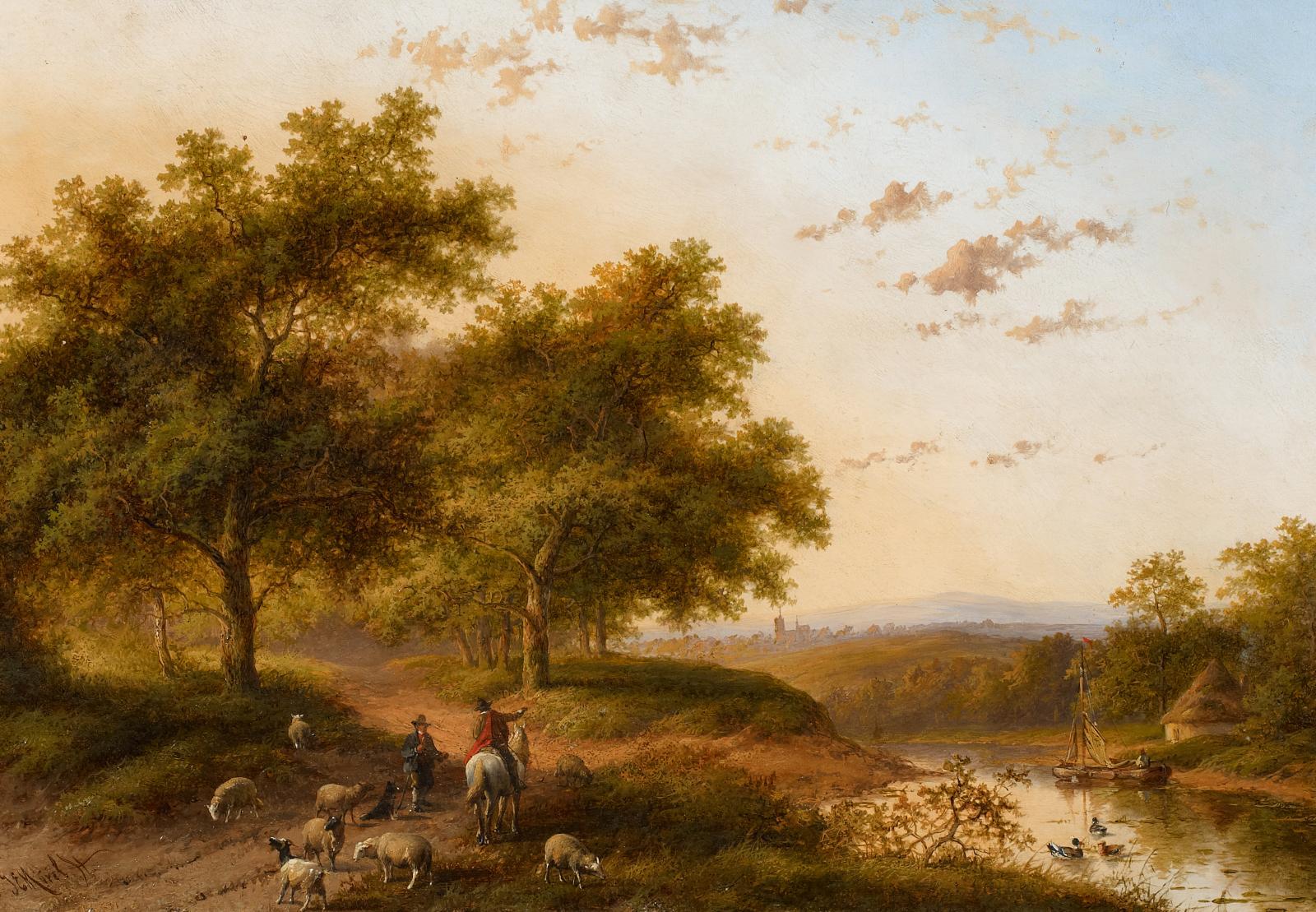 Sommerliche Landschaft am Waldrand von Jan Evert Morel – Kaufen ...
