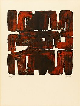 Pierre Soulages, 1957, Druckgrafik, Abstrakt, Aquatinta, Auktion Nr. 422, Los Nr. 884, VAN HAM Kunstauktionen