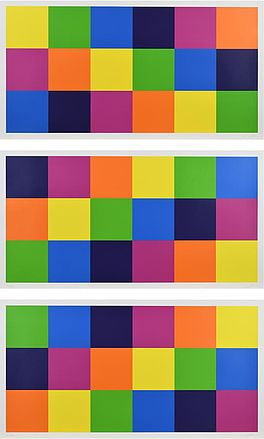 3 x 3 Farbgleichungen, Auktion 1015 Los 59, Van Ham ONLINE ONLY | Art of Colours