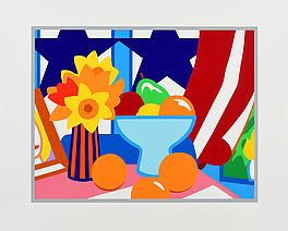Still Life with Red Blowing Curtain, Auktion 1036 Los 74, Van Ham ONLINE ONLY |...
