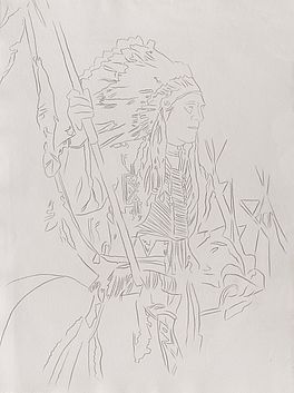 Cowboys and Indians: War bonnet Indian, Auktion 429 Los 353, Van Ham Modern