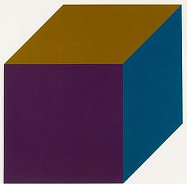 Forms derived from a cube (color), Auktion 376 Los 138, Van Ham ACHENBACH ART...