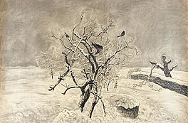 Vögel im Baum (Winter), Auktion 401 Los 71, Van Ham Modern | Post War |...