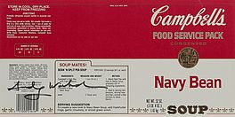 Campbell's Navy Bean Soup Label, Auktion 1041 Los 116, Van Ham ONLINE ONLY |...