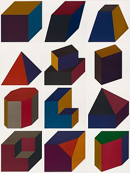 Forms derived from a cube, Auktion 390 Los 217, Van Ham Modern