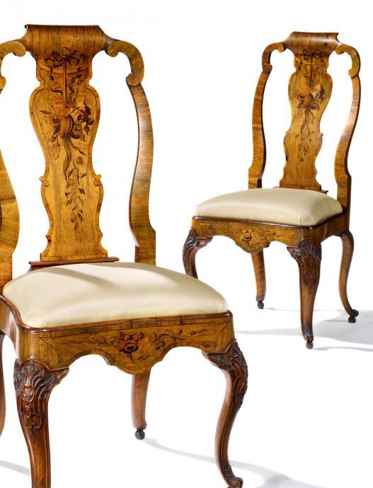Paar Rokoko Stühle Von Abraham Roentgen Kaufen Verkaufen Van